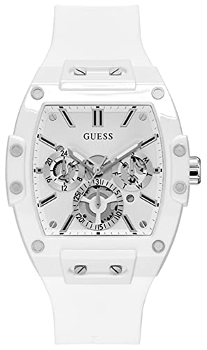Guess Watches Phoenix Herren Uhr analog Quarzwerk mit Silikon Armband GW0203G2