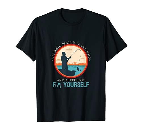 Divertido Humor Pesca Caña Paz Río Pescadores Camiseta