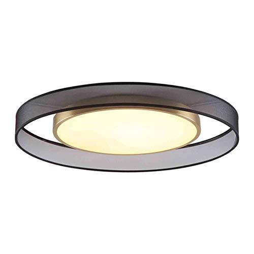 QEGY LED Salón Luz de Techo con 3 Temperaturas de Color, Moderna Lámpara de Techo para Dormitorio Oficina Habitación de Niños Decoración Iluminación, Tulipa de Tela,Ceiling lamp 45cm