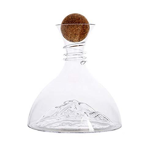 SXYB Gran Capacidad Decantador de Iceberg, Viernes de Vino Tinto, Vidrio de Cristal soplado a Mano, Textura Transparente, Cintura Espiral, cómoda para sostener, Antideslizante