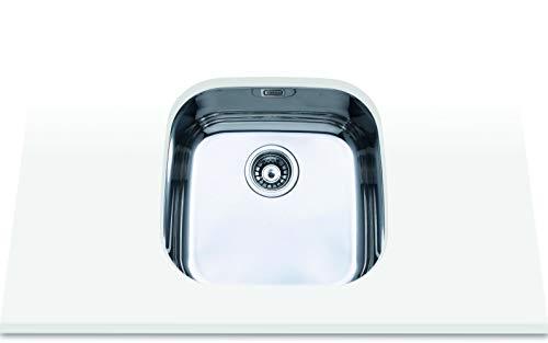 Edesa 950270025 Bajo Encimera | Modelo Fuji BE 40x40 1C | 1 Cubeta Cuadrada | Fregadero de...