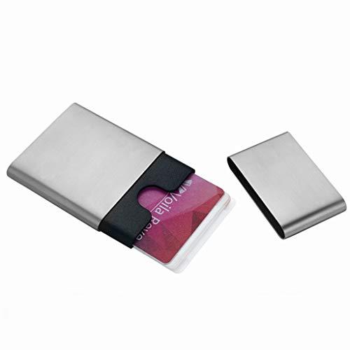 Tarjeteros Estuche para tarjetas Estuche para tarjetas Estuche para tarjetas de visita gratis Moda para hombres de negocios Estuche para tarjetas creativo Estuche para tarjetas de visita de acero inox