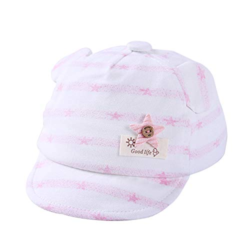 Hosaire 1x Lindo patrón de Estrella Gorra Niño Niña Sombrero de Sol del bebé para 0-6 Meses bebé,para Casuales Sombreros Hip Hop Gorras de béisbol
