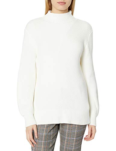 French Connection Women's Mock Neck Sweater, Winter White, X-Small