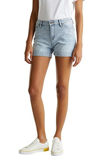 edc by ESPRIT Damen 030CC1C306 Shorts, 904/BLUE Bleached, 32