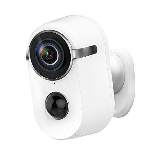 Battery Security Camera, Pikkey 10000mAh Rechargeable Home Security Camera WiFi 2.4G, Wireless...