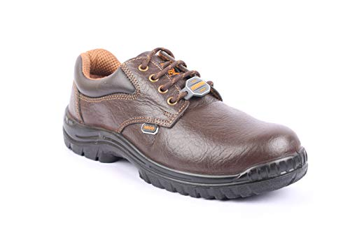 Hillson Argo Brown Men's ISI Approved Steel Toe Leather Safety Shoe (Size-9 UK, Brown)