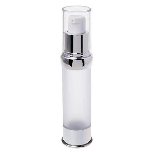 Cosmetic Jar, Travel Airless Bottle Pump Empty Spray Cosmetic Vacuum Lotion Bottles 15/20/30ml-Silver -2