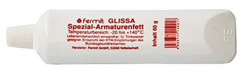 Fermit (GLISSA Spezial-Armaturenfett) nach NSF-H 1 freigegeben und nach DIN 51502 des Bundesgesundheitsamtes (60 Gramm Tube)