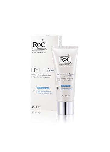 RoC - Hydra+ 24H Comfort Feuchtigkeitscreme Light - Kraftvolles Feuchtigkeitsmittel - Intensiv Befeuchtete Haut - 24-Stunden-Komfort - 40 ml
