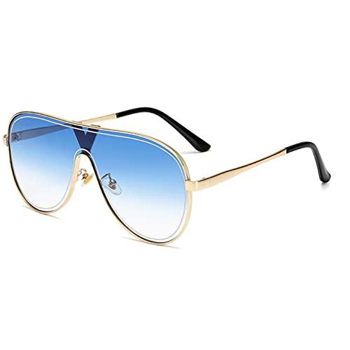 DAIDAICDK Gafas de Sol de aleación sin Marco Gafas de Sol graduadas Gafas ovaladas de Metal Femenino Accesorios para automóviles al Aire Libre