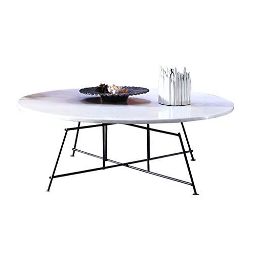 Y-Leah wit, slijtvast marmeren tafelblad + gelast ijzermetalen frame, afgeronde randbescherming.