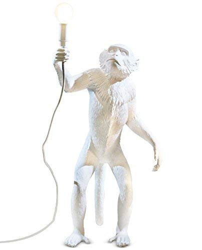 Seletti 14880 Lampe en forme de singe 46 x 27,5 Hauteur 54 cm En résine Blanc 57,8 x 51,2 x 30 cm