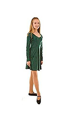 Dance-Stage-Celtic-Irish-Lyrical Irish Dance Dress Child's Costume - in Variation of Colours & Sizes (Age 7-8, Forest Green)