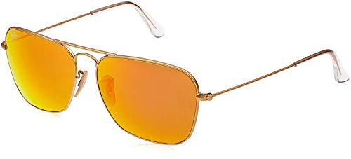 Gafas Ray-Ban amarillas estilo aviador unisex