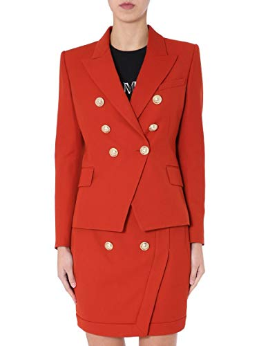 Luxury Fashion | Balmain Dames TF17110V0932UB Rood Viscose Blazers | Lente-zomer 20