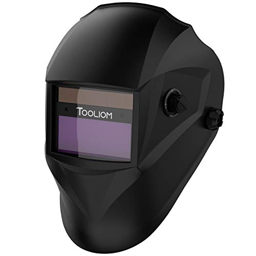 Product Image of the TOOLIOM True Color Welding Helmet Auto Darkening Welding Mask Shade Range 9-13 Solar Powered Weld Hood with Grinding Feature for TIG MIG MMA