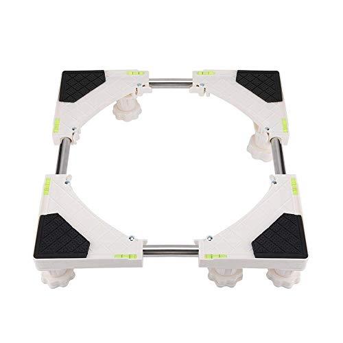Base móvil multifuncional Base móvil - 8/12 Pies de servicio pesado Monte Nevera soporte ajustable universal Con Ruedas titular Baño Frigorífico Lavadora base de la máquina conveniente Para lavadora r