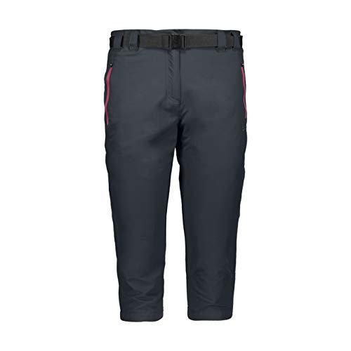 CMP Damen Capri Stretch Trousers Hose, Anthracite-Bouganville, D42