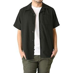 (リミテッドセレクト) LIMITED SELECT オープンカラーシャツ メンズ 半袖 開襟シャツ 無地 RL2-1025 LL B-ブラック-2