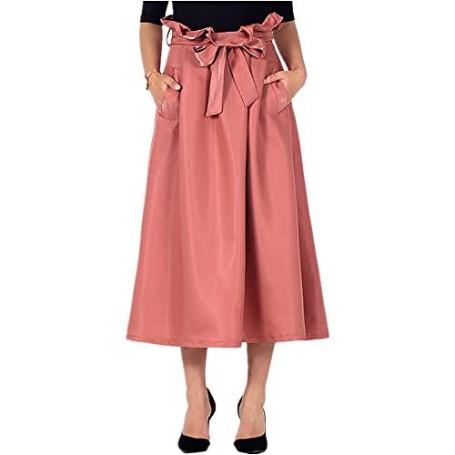 Falda de Verano Gran Falda Paraguas Falda Sólido Encaje hasta la Falda
