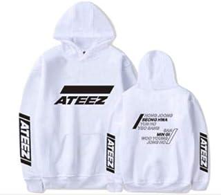 韓流グッズ ATEEZ グループ 応援服 STAR週辺フードスウェット 韓国ファッション 男女兼用 トップス 韓国 パーカー/Tシャツ応援服