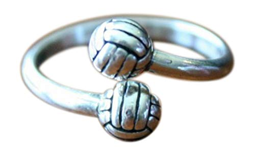 K & S Impressions Volleyball Adjustable Ring- Volleyball Players Ring - Volleyball Team Gift
