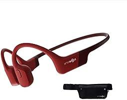 AfterShokz Aeropex 骨伝導ワイヤレスヘッドホン 防水bluetooth5.0 ソーラーレッド