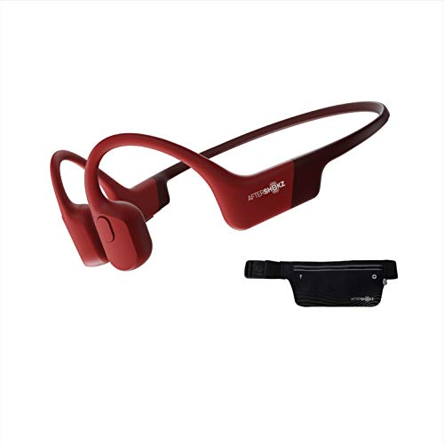 AfterShokz Aeropex knochenschall Kopfhörer, Open-Ear Bluetooth Wireless Kopfhörer, Sport Headphones, Rot