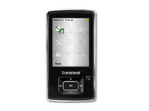 Transcend MP 860 Tragbarer MP3-/Video-Player 4 GB (6,1 cm (2,4 Zoll) TFT LC-Display, Radio-Rekorder, MicroSDHC-Slot, USB 2.0) schwarz