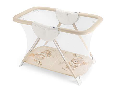 CAM Laufgitter Brevettato Baby-Laufstall kompakt & klappbar | Bißfester Handlauf | Leicht zu reinigen | Made in Italy (Bärchen)