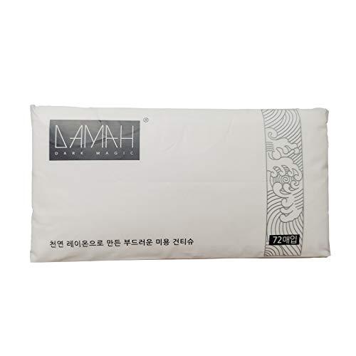 Corea [DAMAH] Toallitas faciales desechables, 72 unidades por rollo para todo tipo de piel y pieles sensibles