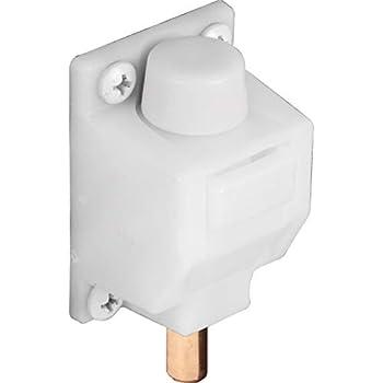 Prime-Line U 9869 Sliding Door Lock 3/8 in Reach Plastic & Steel Components White Foot Operated