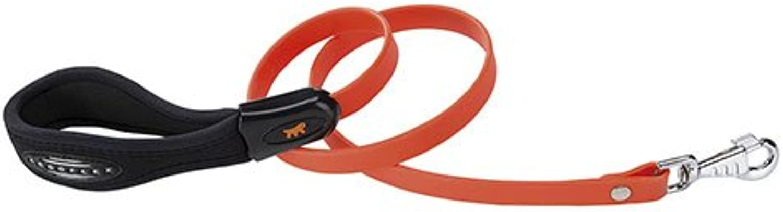 Ferplast Ergoflex Dog Lead, 18 mm x 110 cm, orange