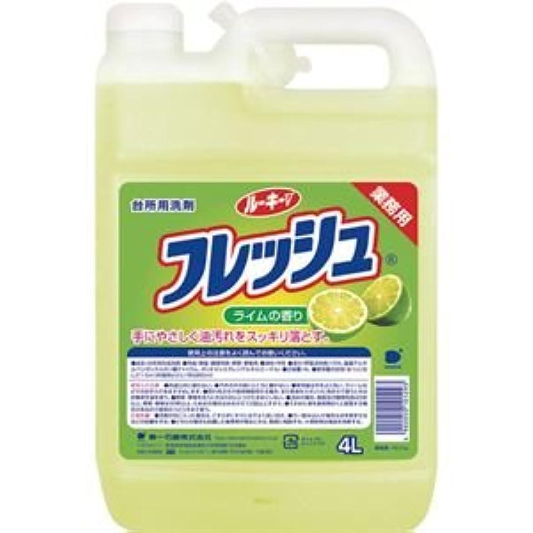 きゅうり配管オーガニック(まとめ) 第一石鹸 ルーキーVフレッシュ 業務用 4L 1本 【×5セット】
