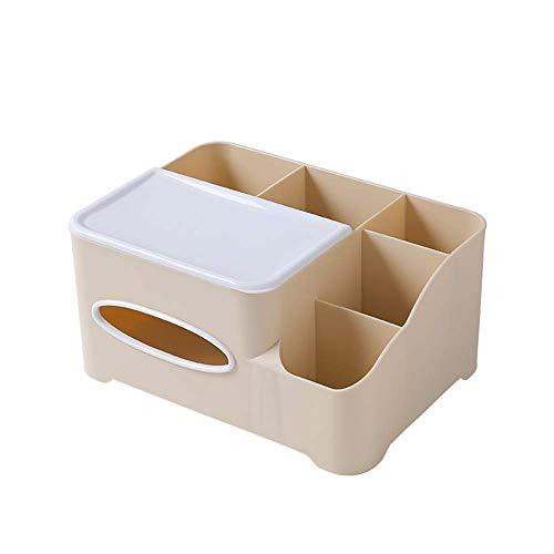 COLiJOL Soporte de Papel Caja de Pañuelos Caja de Alenamiento de Pañuelos Organizador de Servilletas de Papel Soporte de Control Remoto Accesorios para el Hogar