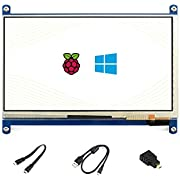Waveshare 7 Inch Capacitive Touch Screen LCD(C) 1024 * 600 HDMI Interface Display Shield Panel Supports Raspberry Pi/BB Black/PC/Various Systems/Raspberry Pi 3 Model B/3B+/Raspberry Pi 4