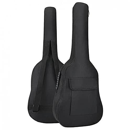Bolso de guitarra de 36 pulgadas Oxford Paño de tela 5 mm algodón tapa suave gruesa impermeable mochila cubierta protector bolsa bolsa doble correa