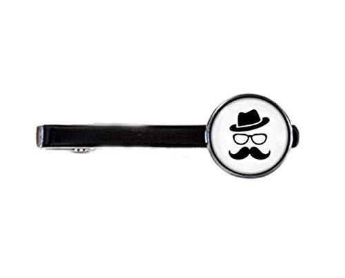 Little Love Mustache Clip de corbata en blanco y negro, regalo para marido, clip de corbata, barra de corbata, joyería de estilo hipster, regalo para papá, regalo para hermano, hombre