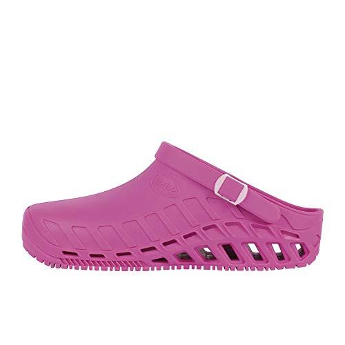Scholl Clog Evo, Pantofole Unisex-Adulto, Fucsia, 38.5 EU