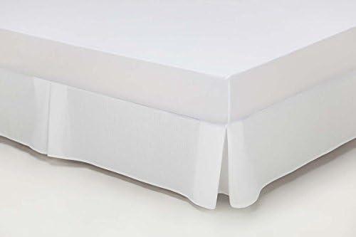 ESTELA - Cubrecanapé Hilo Tintado RÚSTICO Color Blanco óptico - Cama de 200 - Alto 35 cm - Tipo Colcha - 50% algodón / 50% poliéster - Medidas: 200 x ...