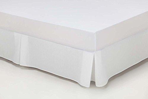 ESTELA - Cubrecanapé Hilo Tintado RÚSTICO Color Blanco óptico - Cama de 135 - Alto 35 cm - Tipo Colcha - 50% algodón / 50% poliéster - Medidas: 135 x 190/200 + 35 cm.