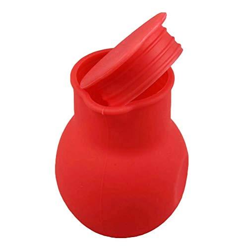 BESTONZON Silikon Schokolade Schmelztiegel Milch Butter Schmelztopf für Mikrowelle und Wasserbad Schmelzschale (rot)