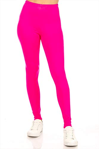 Stretch Workout Elastic Waist Slim Yoga Solid Leggings Pants Made in...