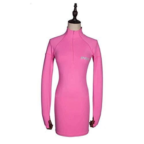 Justtime sportieve jurk met lange mouwen met reflecterend letterpatroon Small roze