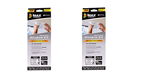 Duck Max Strength Rolled Clear Plastic Window Insulation Kit - 84 in x 120 in(Pack of 2)