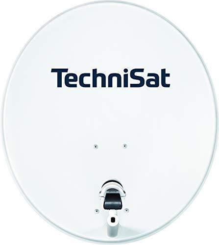TechniSat TECHNITENNE 70 Satelliten-Schüssel für 4 Teilnehmer (70 cm digital Sat Anlage, Komplettset aus Antenne mit Masthalterung und Quattro-Switch-LNB), lichtgrau