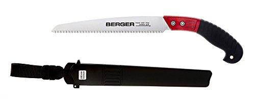 Scie à main Berger 64730 avec lame de scie interchangeable et fourreau, longueur : 24 cm