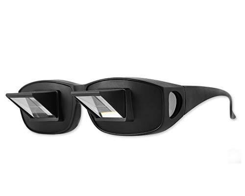 Fauler Leser Prisma Brille Liegen Bett Fernsehen Prismengläser