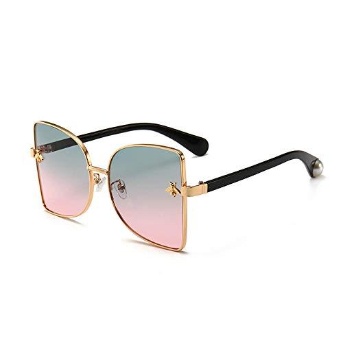 Gradient fashion ladies sunglasses gafas de sol de metal con tendencia de montura grande gafas pico Xiaomi